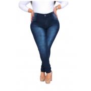 Calca Jeans Cintura Alta Plus Size Strech Feminina
