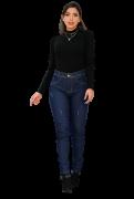 Calça Jeans Feminina Básica Cós Médio
