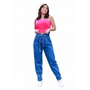 Calça Jeans Feminina Mom Baggy Clochard Com Slouchy Boyfriend