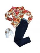 Calça jeans Plus Size Básica Cintura Alta Skinny Feminina