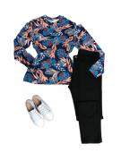Calça jeans Plus Size Cintura Alta Básica Preta Feminina