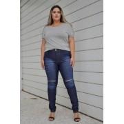 Calça Jeans Plus Size Destroyed