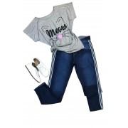 Calça Jeans Plus Size Listra Lateral