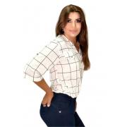 Camisa Blusa Feminina Manga Curta Social Sport