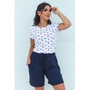 Shorts Básico Feminino Azul Marinho