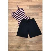 Shorts Básico Feminino Preto