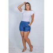 Shorts Feminino Estilo Jeans.