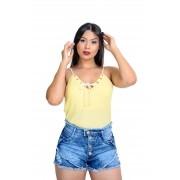 Shorts Jeans Feminino com Botões