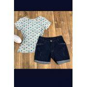 Shorts Jeans Barra Dobrada