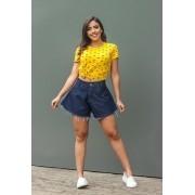 Shorts Jeans Feminino Gode Barra Desfiada