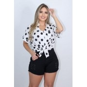 Shorts Jeans Curto Preto Destroyed