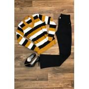 Suéter Tricot Feminina Listrada