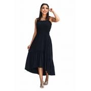 Vestido com Lastex Modelo Mullet De Alça Moda Feminina