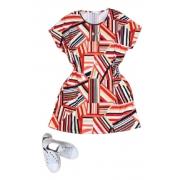 Vestido Curto Feminino com Colar Plus Size