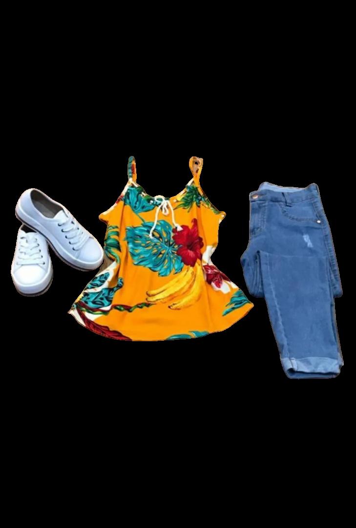Alcinha Estampada Cordão  - ModaStore
