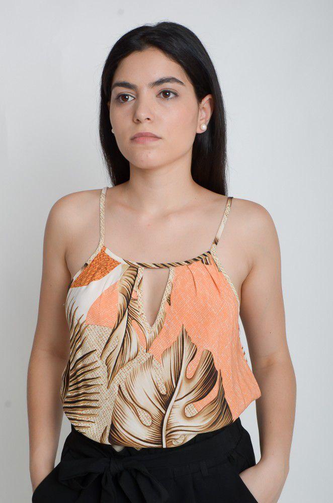 Alcinha Estampada de Viscose  - ModaStore | Moda Feminina