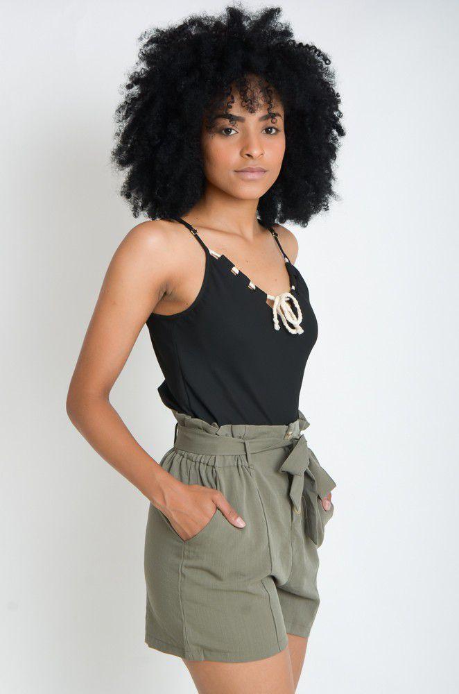 Alcinha Lisa Cordão  - ModaStore   Moda Feminina