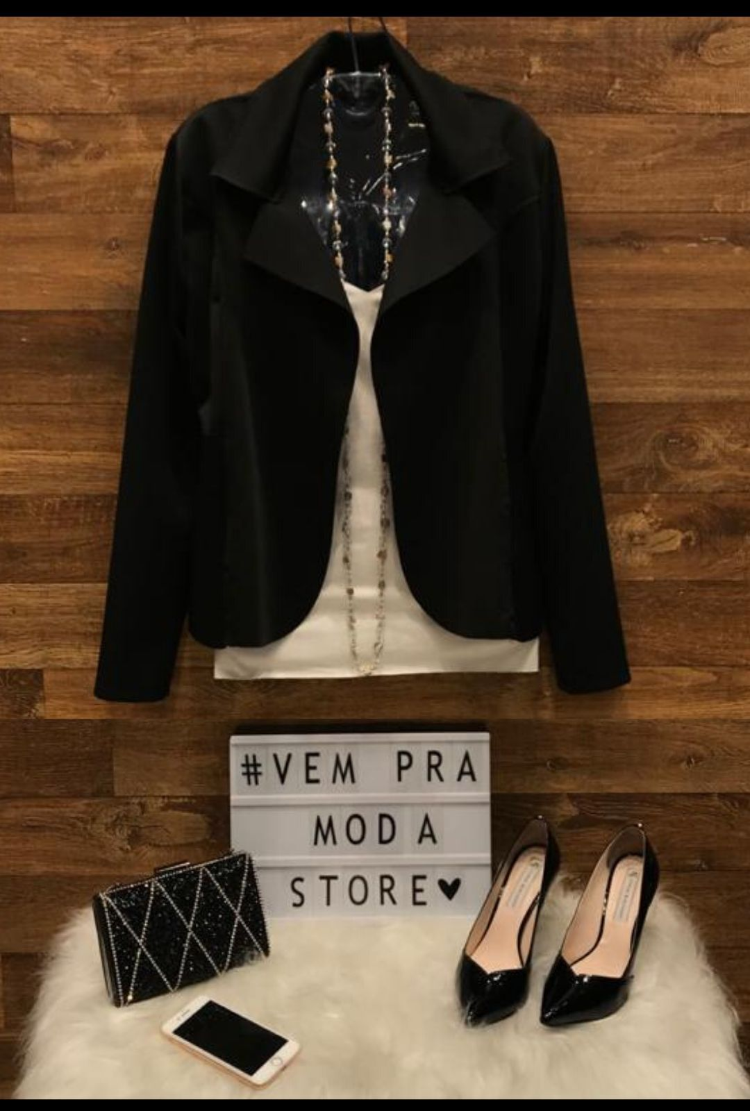 Blazer Casaquinho Neoprene Feminino Terninho Preto  - ModaStore | Moda Feminina
