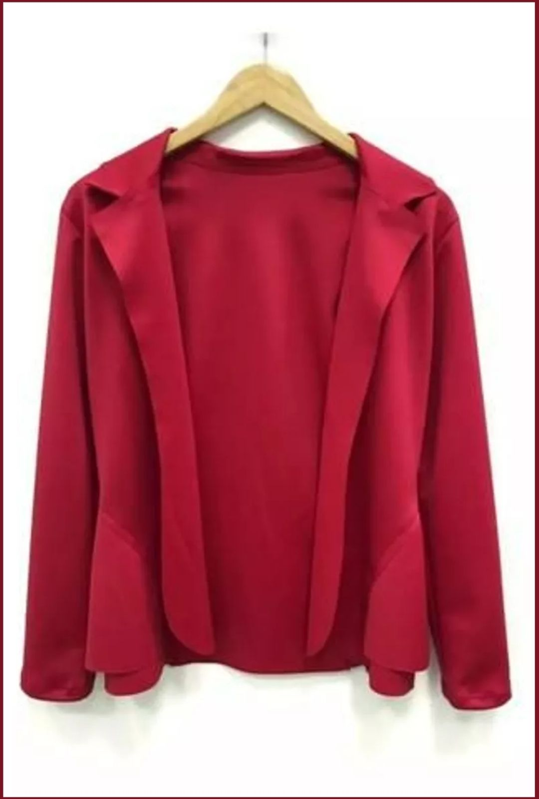 Blazer Casaquinho Neoprene Feminino Terninho Vermelho  - ModaStore | Moda Feminina