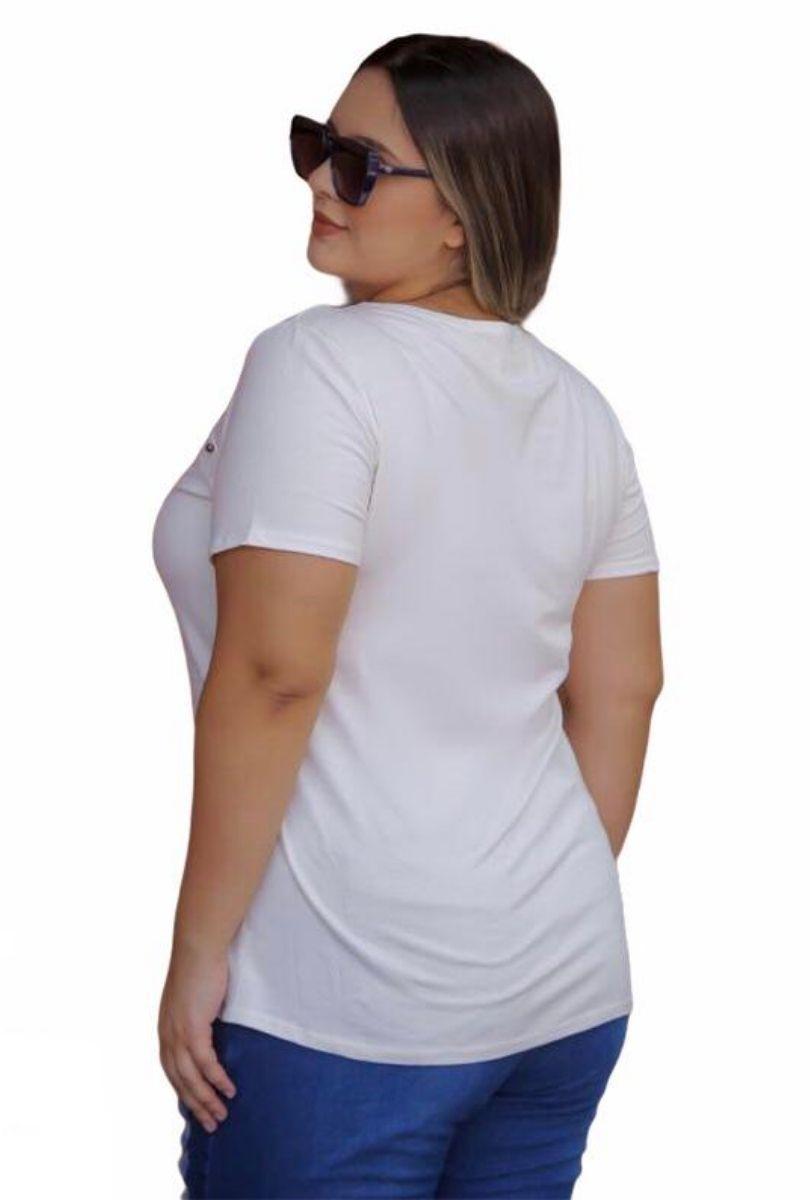 Blusa Aplique Plus Size Paula  - ModaStore