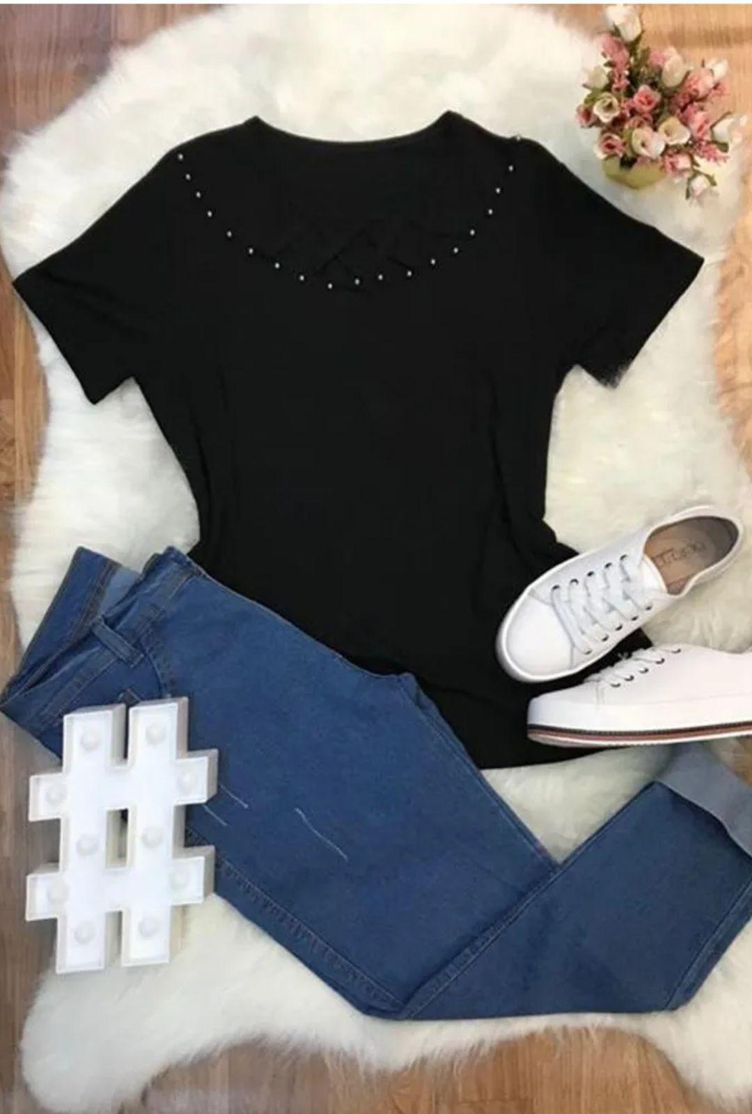 Blusa Aplique Priscila  - ModaStore