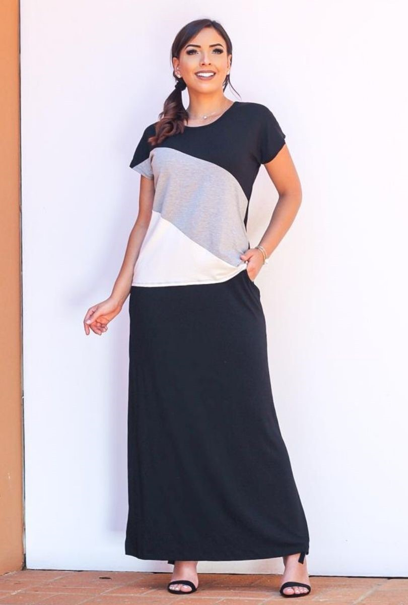 Blusa Básica Feminina 3 Listras  - ModaStore   Moda Feminina