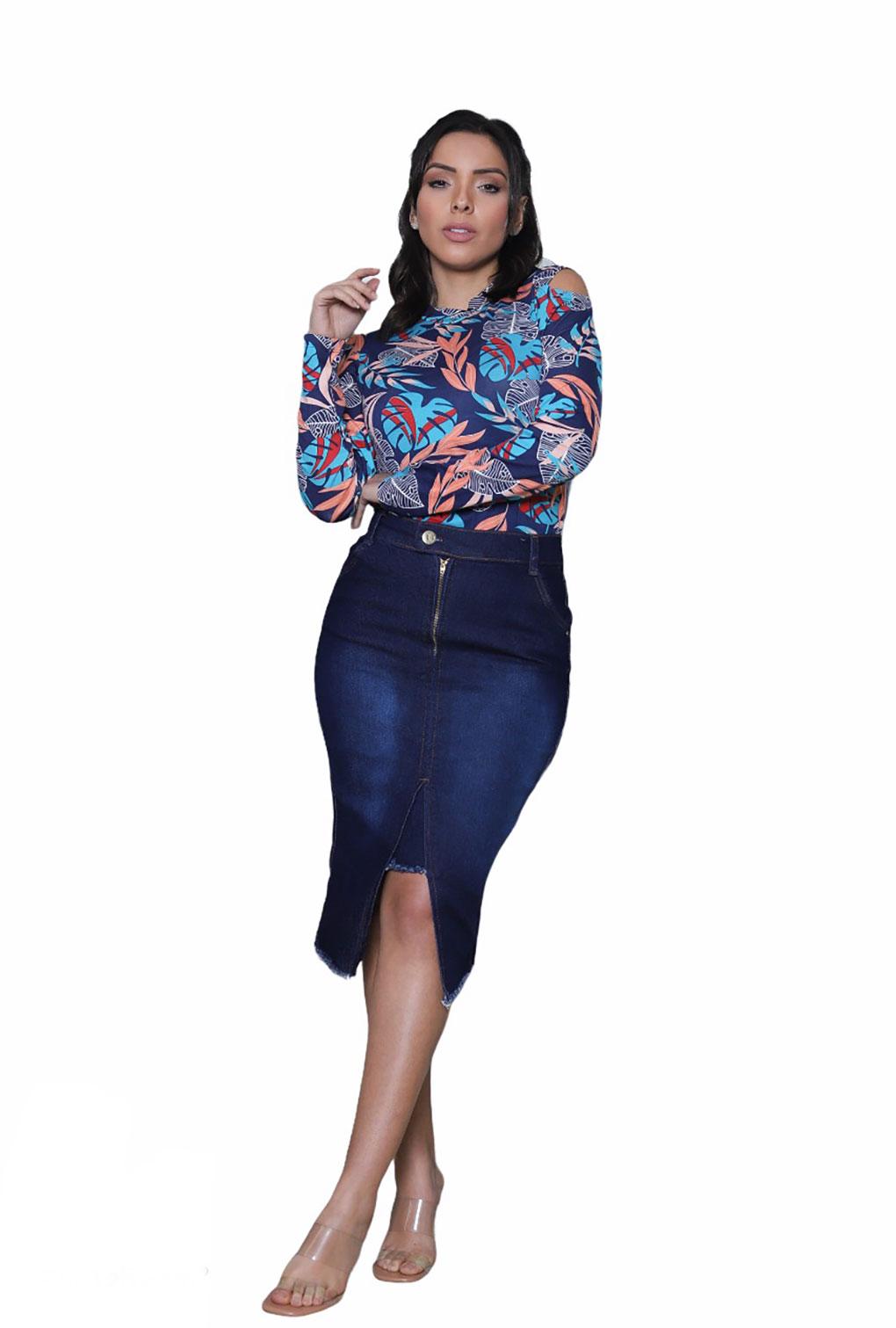 Blusa Feminina Ombros Vazados Plus Size  - ModaStore | Moda Feminina