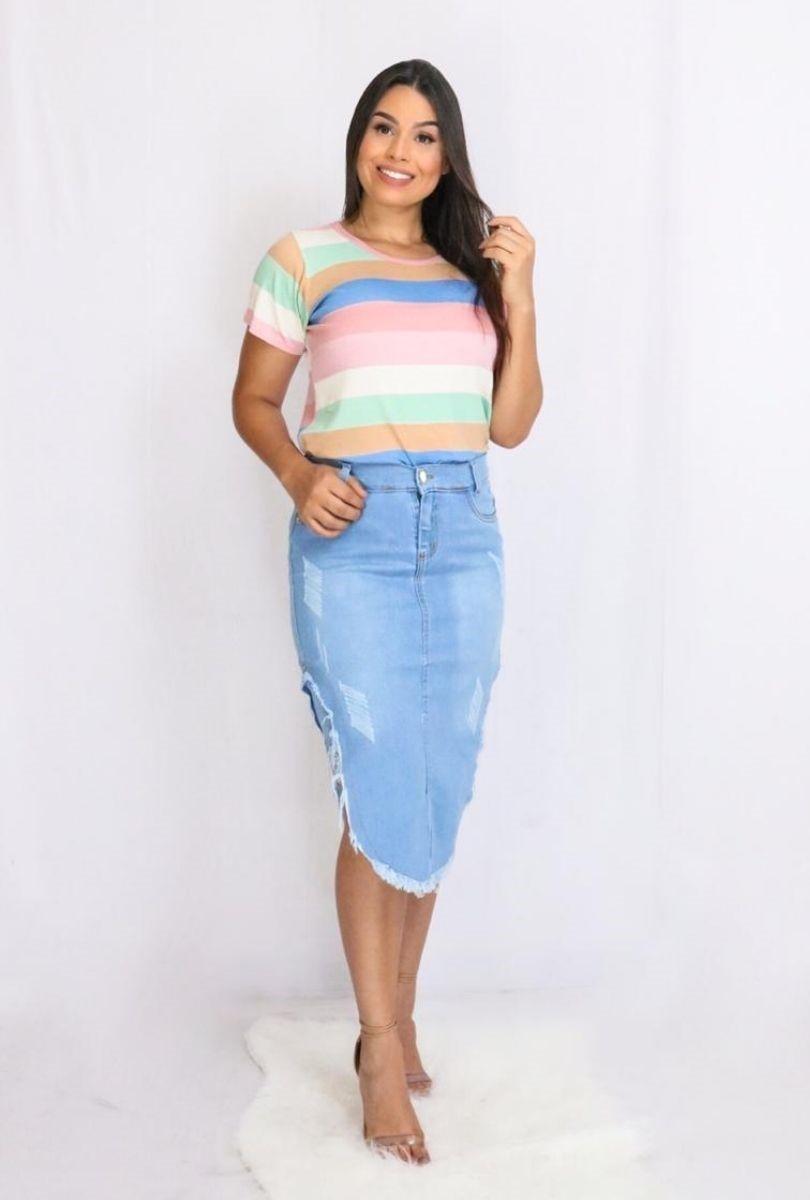 Blusa Listras Coloridas  - ModaStore | Moda Feminina