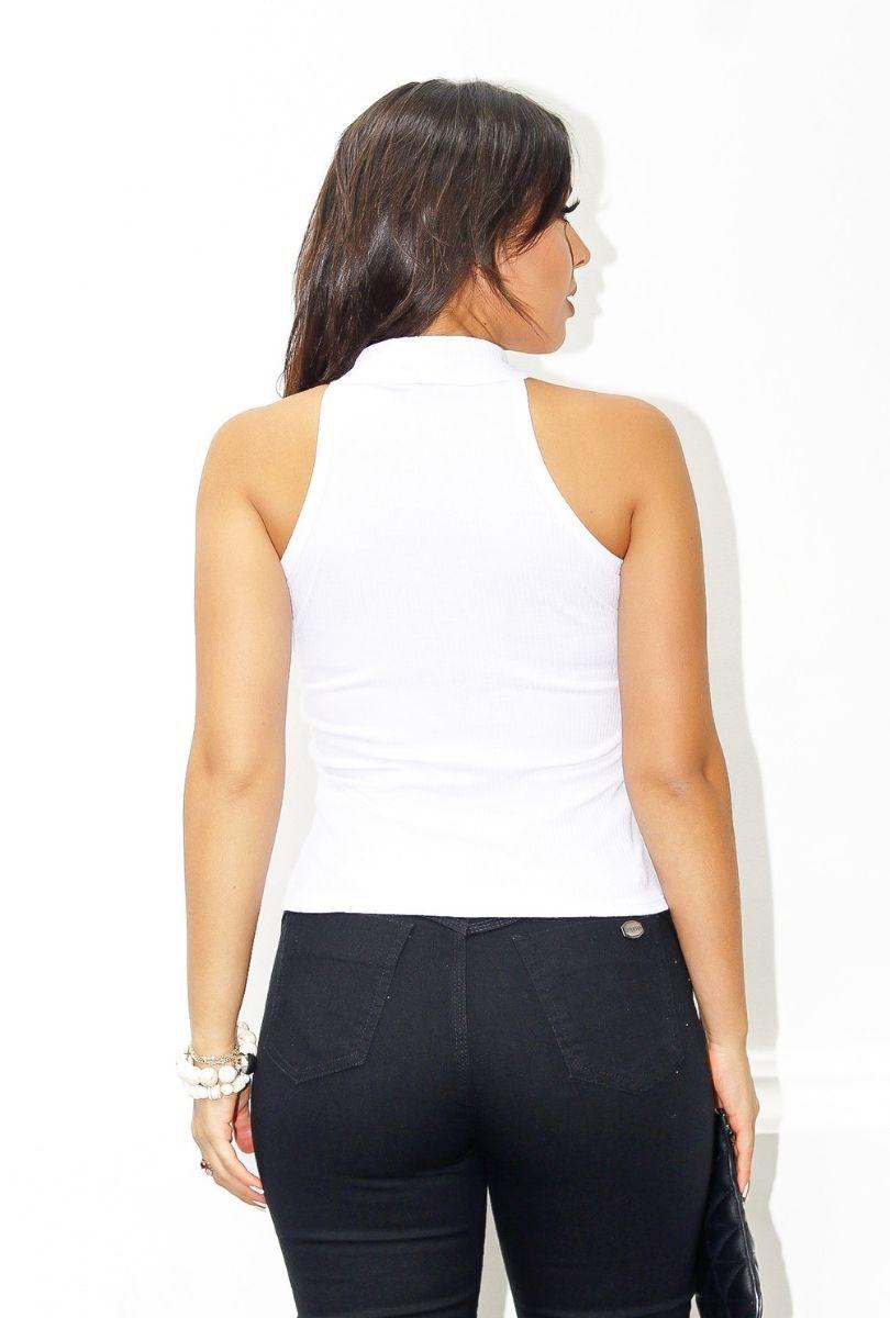 Blusa Regata Canelada Gola Alta Bojo  - ModaStore | Moda Feminina