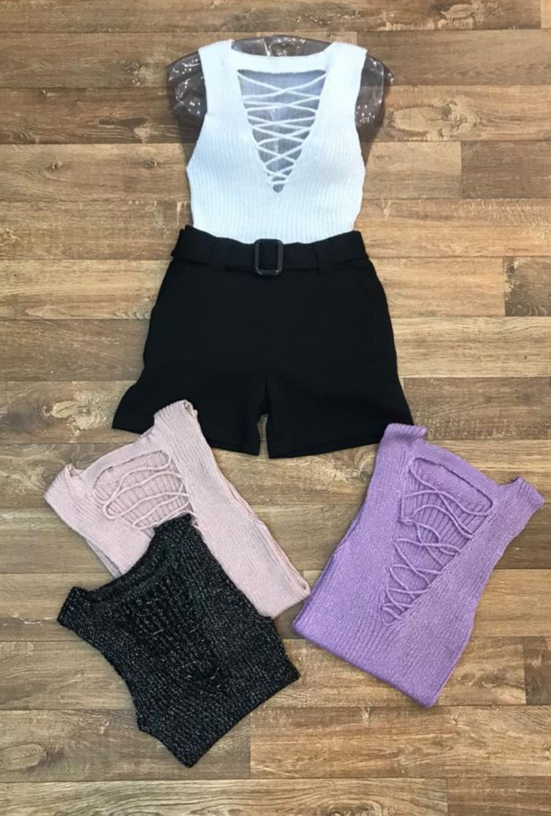 Blusa Feminina Regata Lurex  - ModaStore