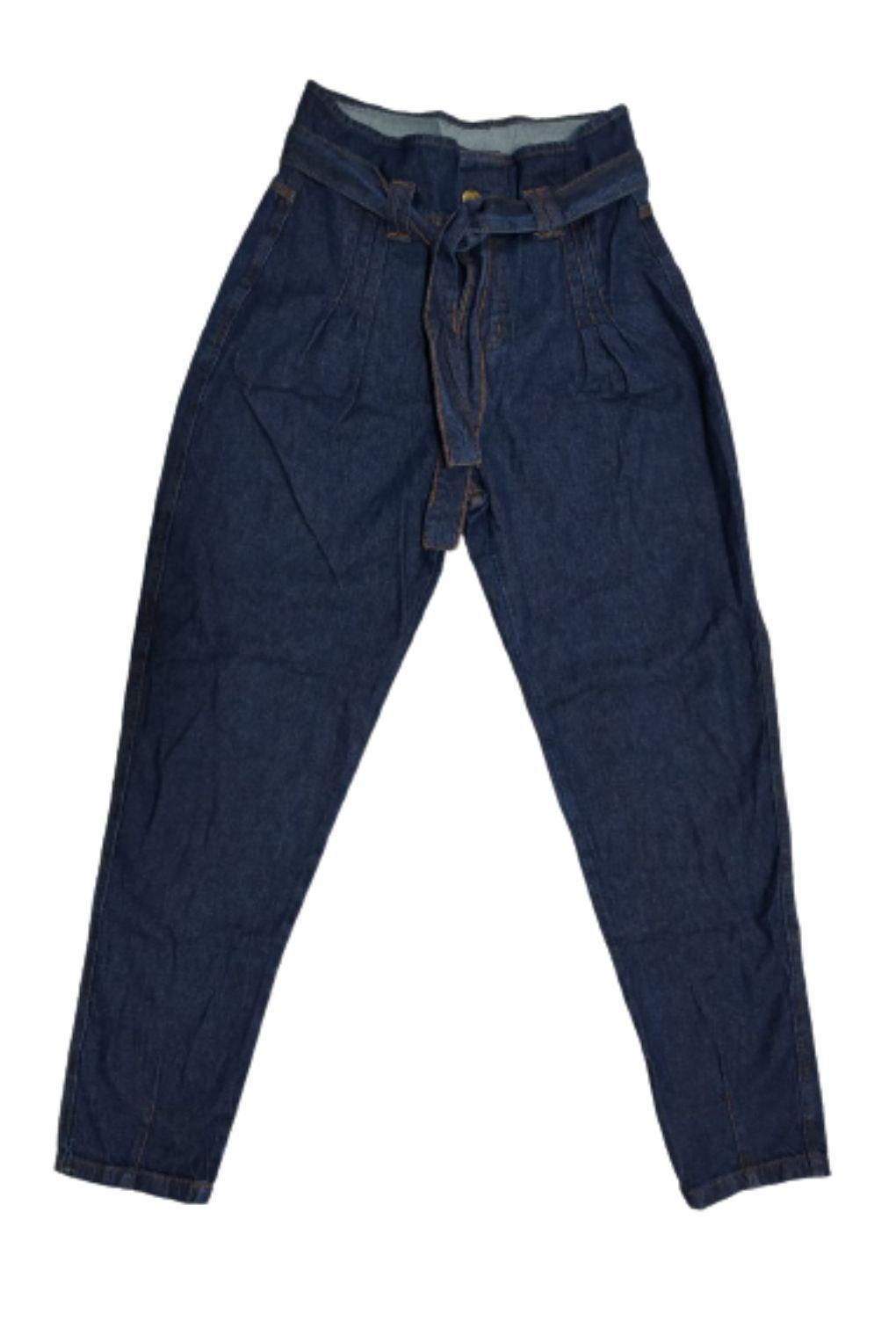 Calça Jeans Escuro Feminina Mom Baggy  - ModaStore | Moda Feminina