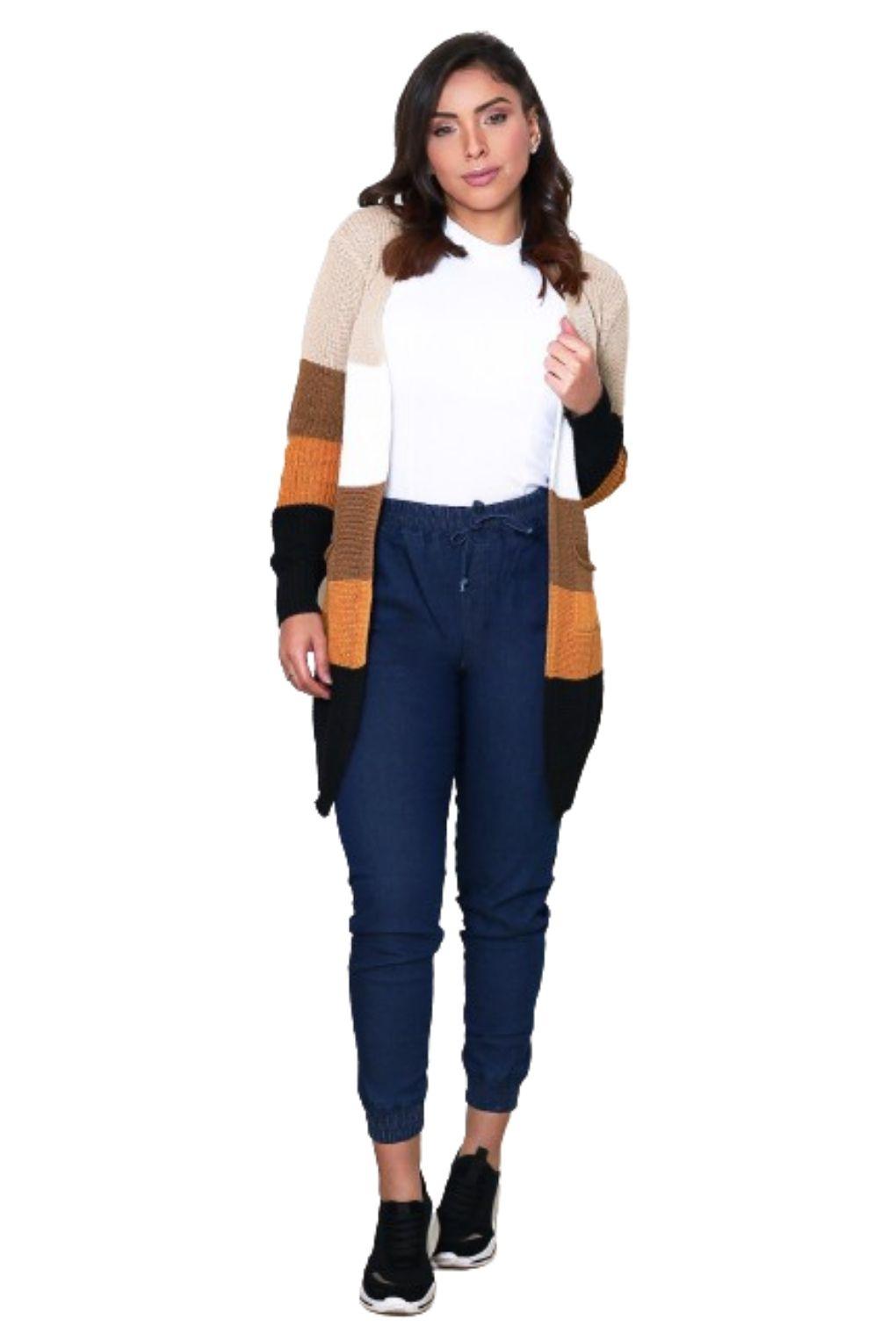 Calça Feminina Jogger Lisa Jeans Cintura Alta Blogueira  - ModaStore | Moda Feminina