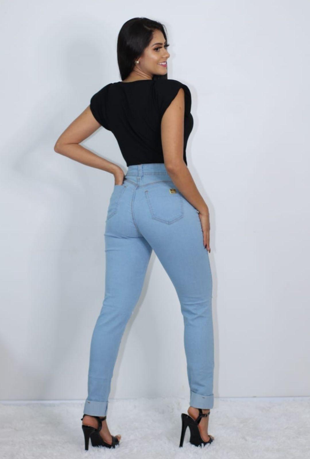 Calca Jeans Cigarrete Destroyed  - ModaStore