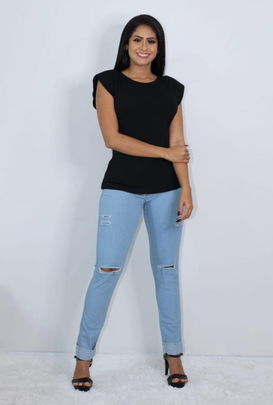 Calca Jeans Cigarrete Destroyed  - ModaStore | Moda Feminina