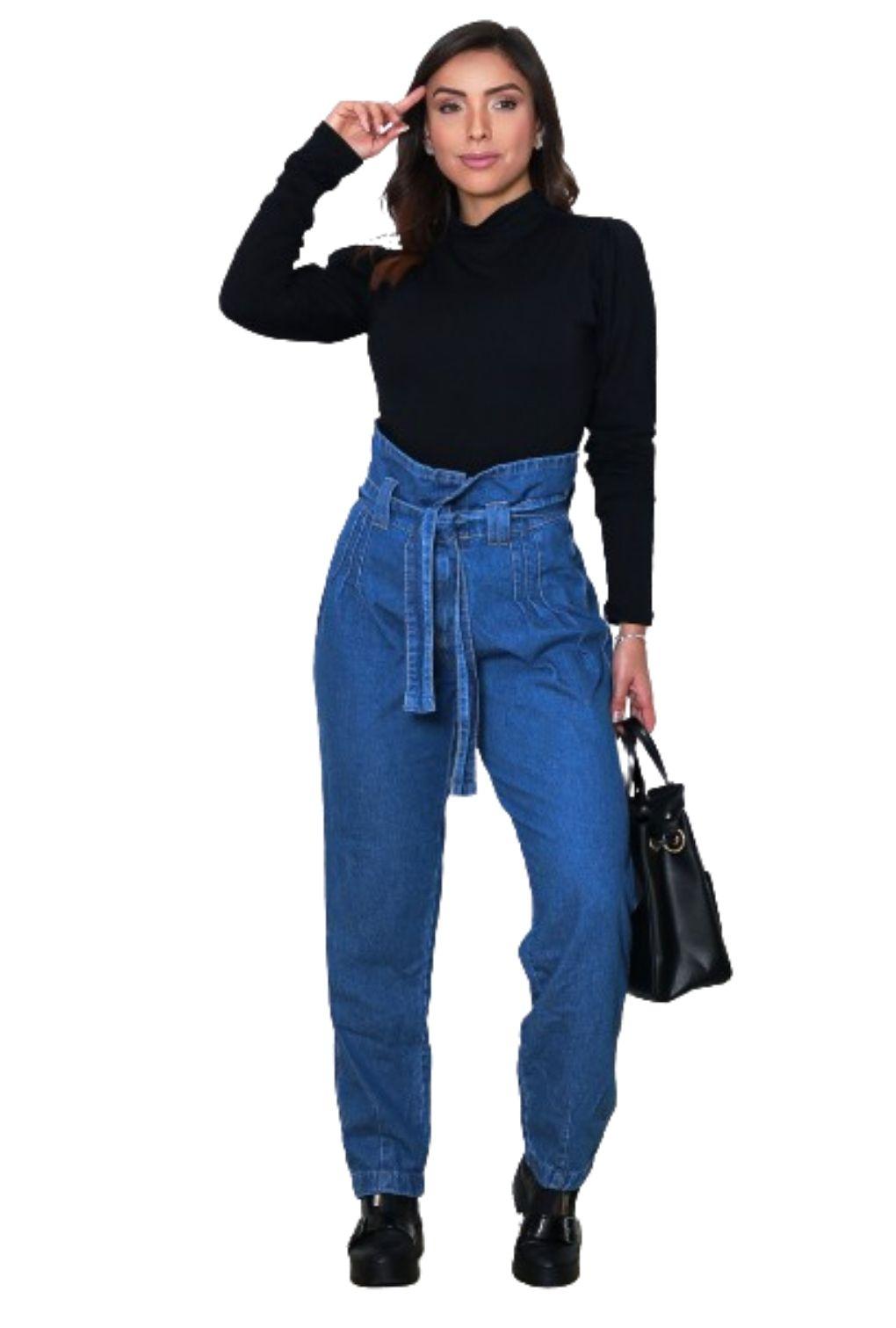 Calça Jeans Feminina Mom Baggy Clochard Com Slouchy Boyfriend  - ModaStore | Moda Feminina