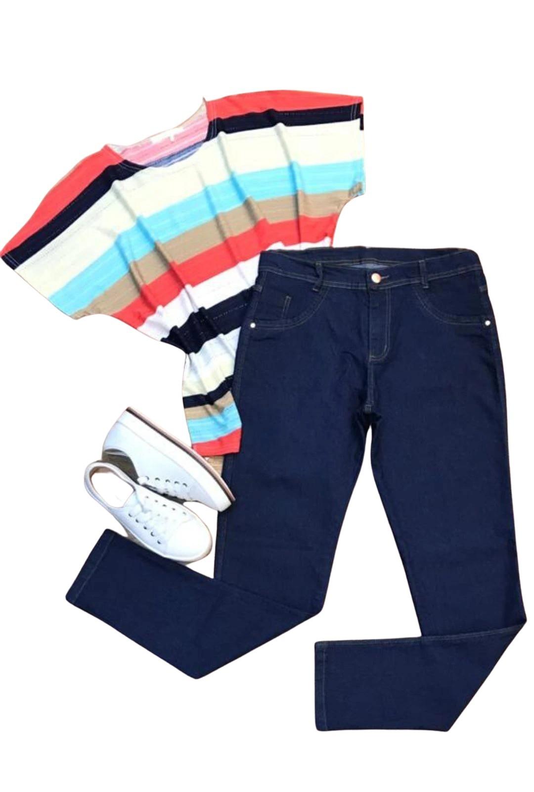 Calça Jeans Plus Size Basic   - ModaStore
