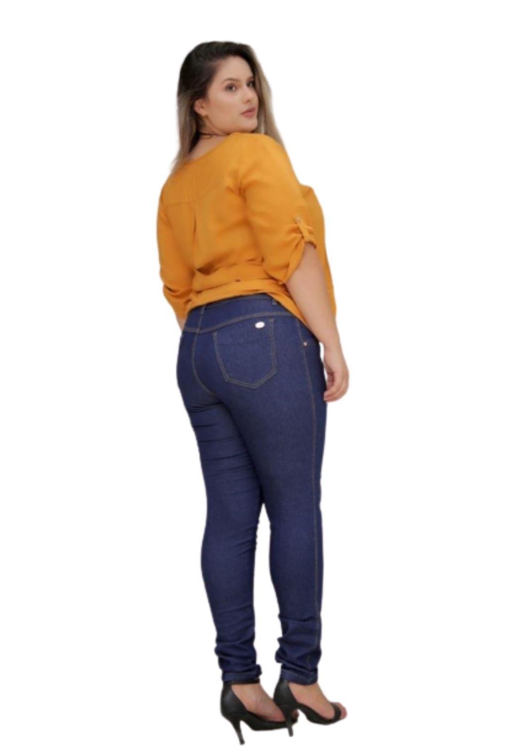 Calça Jeans Plus Size Basica  - ModaStore   Moda Feminina