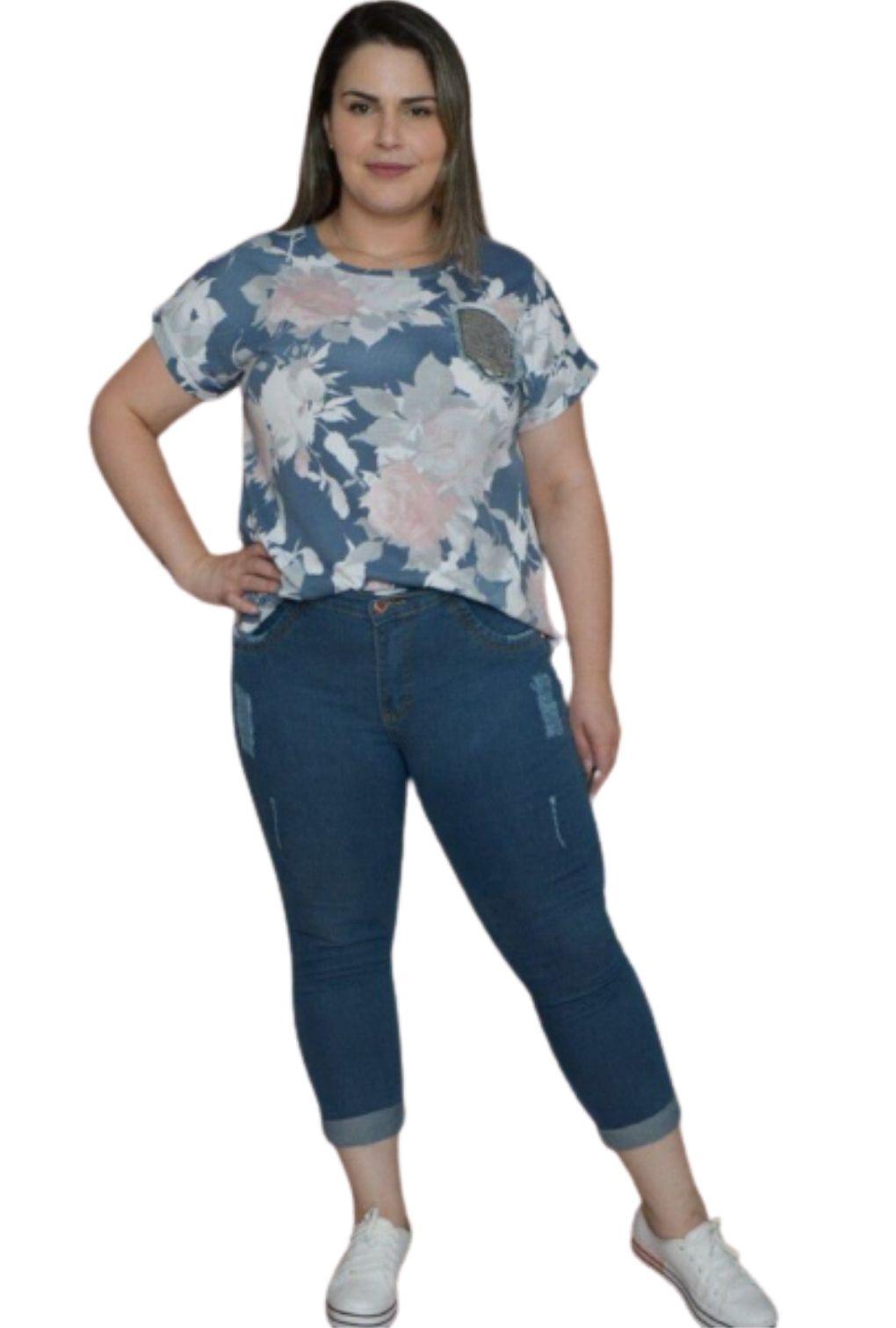 Calça Jeans Plus Size Cigarrete  - ModaStore | Moda Feminina