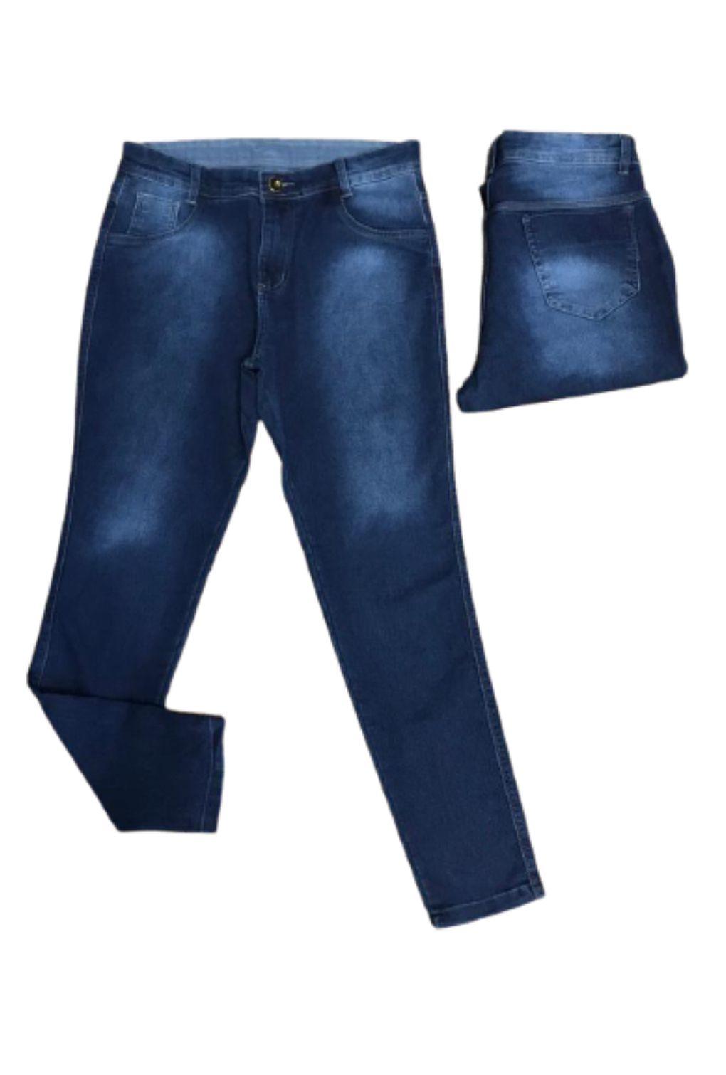Calca Jeans Cintura Alta Plus Size Strech Feminina  - ModaStore