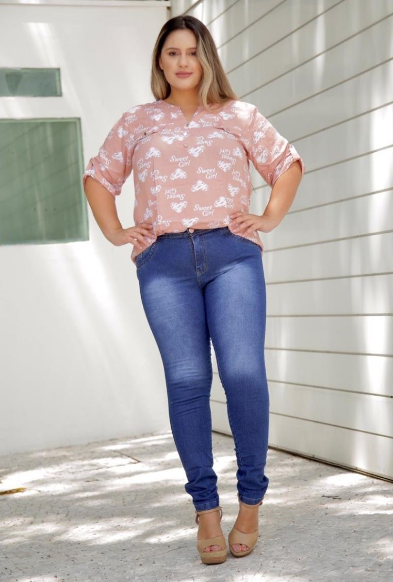 Calça Jeans Plus Size Mary  - ModaStore | Moda Feminina