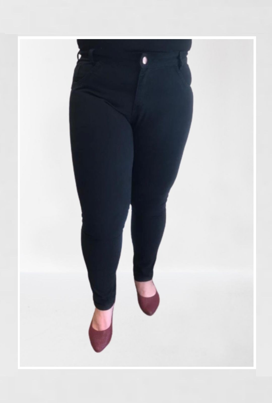 Calça Jeans Plus Size Preta  - ModaStore   Moda Feminina