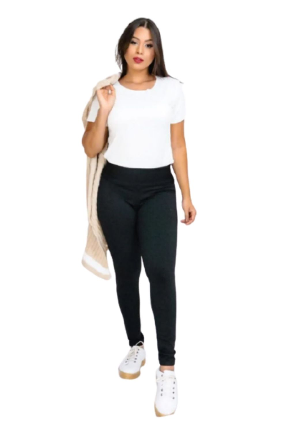 Calça Legging Feminina Básica Forrada  - ModaStore   Moda Feminina