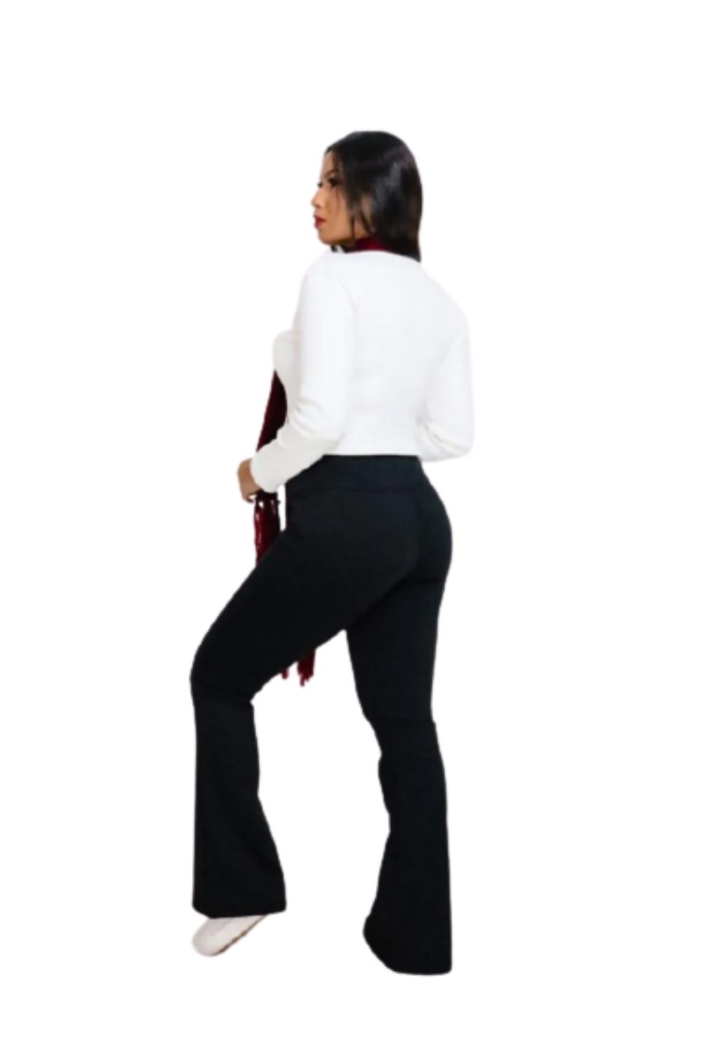 Calça Legging Flare Forrada Feminina  - ModaStore   Moda Feminina