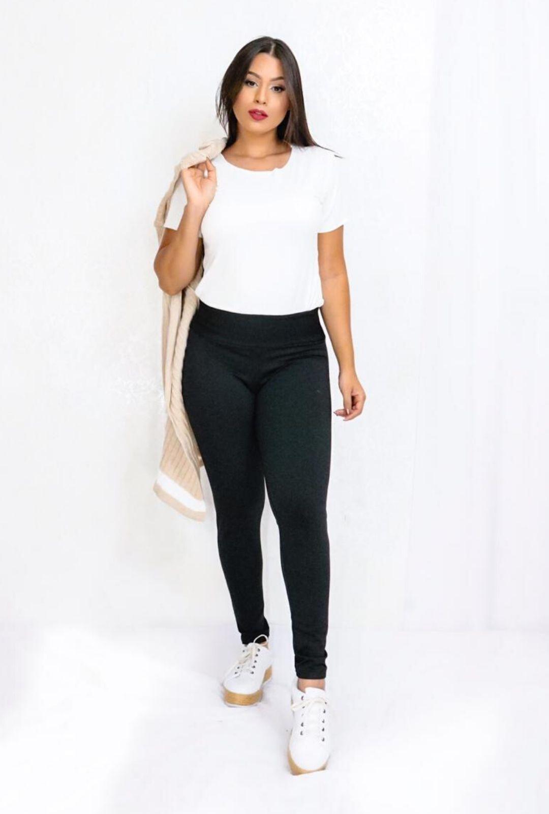 Calça Legging Básica  Forrada  - ModaStore
