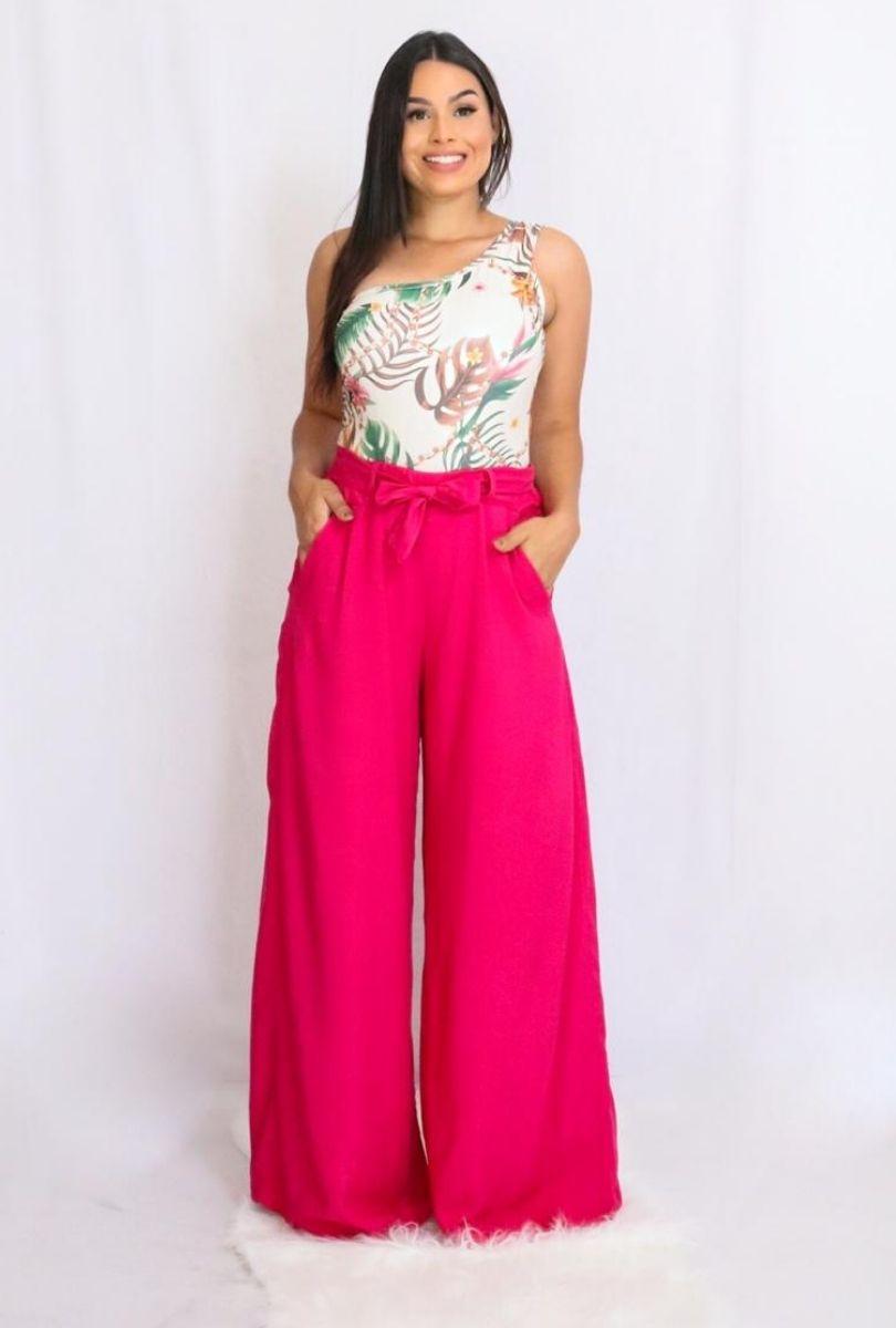 Calça Feminina Pantalona Viscose  - ModaStore
