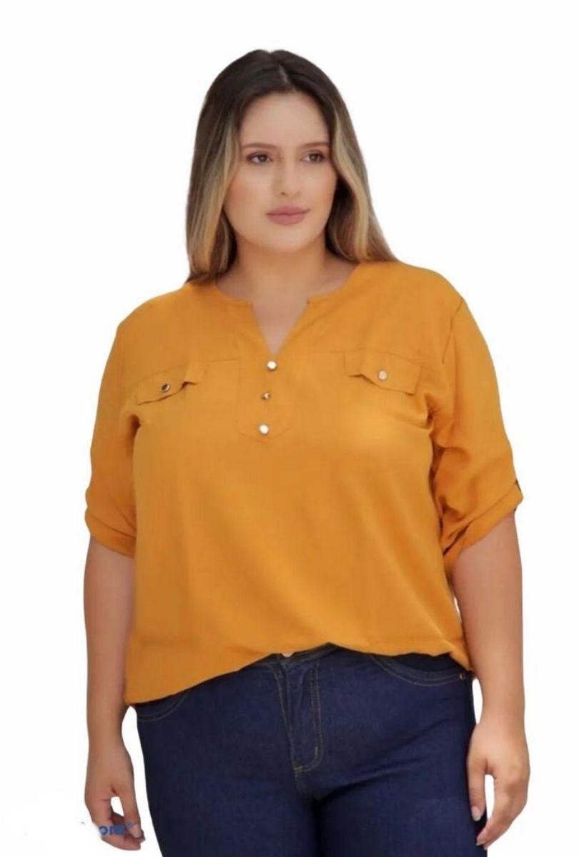 Camisa Blusa Feminina Manga Curta Social Sport  - ModaStore | Moda Feminina