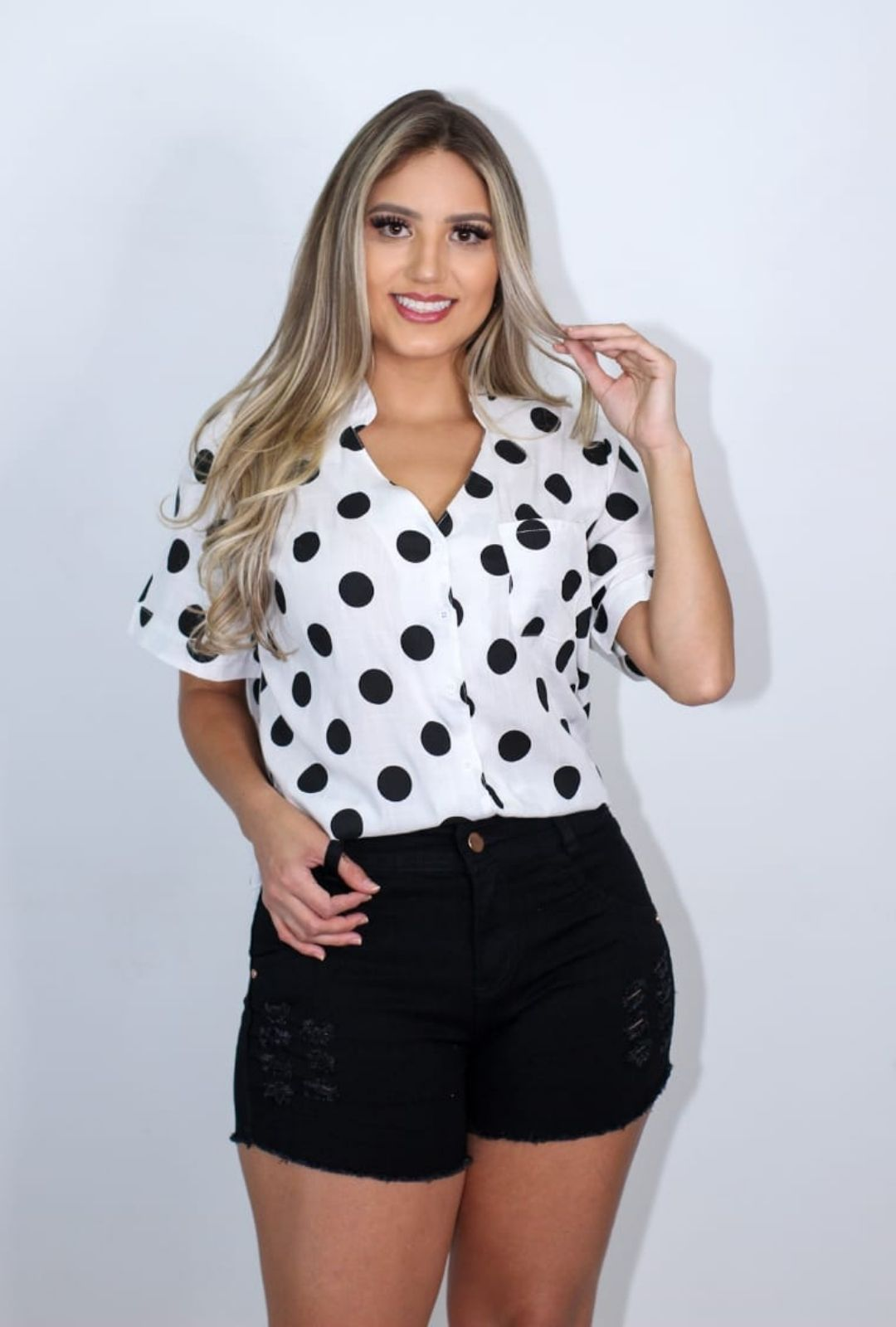 Camisa VickStar Poá  - ModaStore