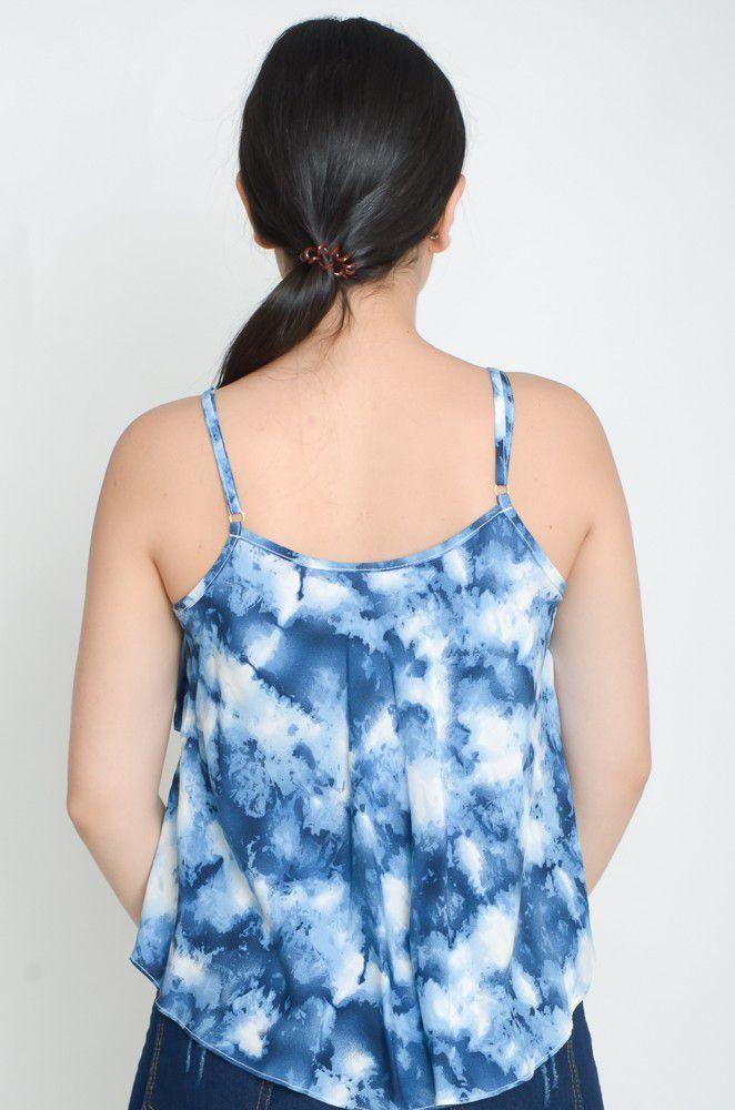 Cropped Alcinha Viscose Tie Dye   - ModaStore