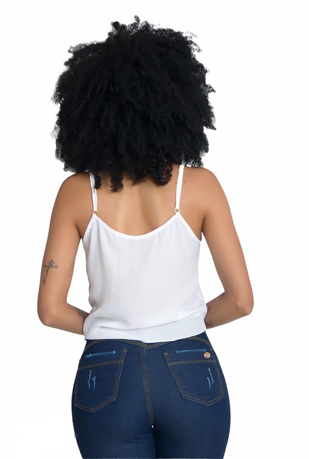 Cropped Botão Laço  - ModaStore   Moda Feminina