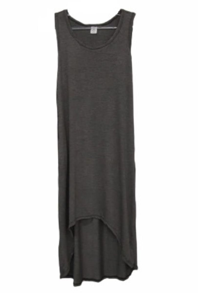 Kit Com 02 Vestidos Malha Feminino Regata Midi Mullet  - ModaStore